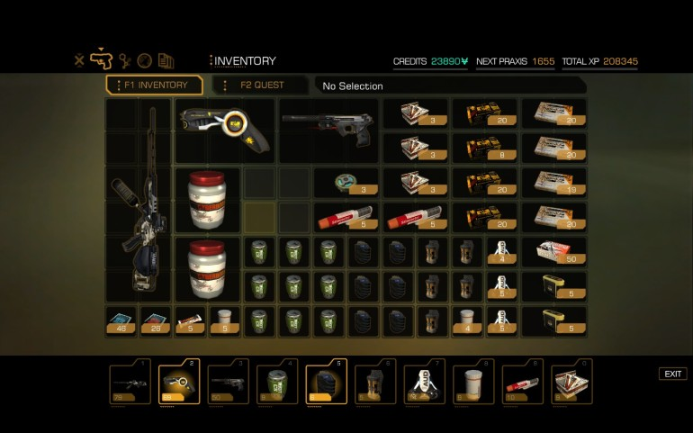 One of the less-known side effects of Pacifism. Inventory Clutter!